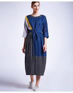 Doodlage Front Knot Dress, blue, s