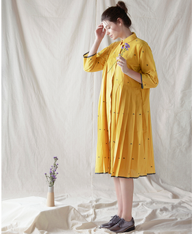 The Plavate Aisier Dress, yellow, xs