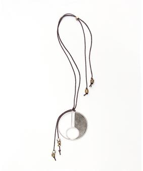 Metallurgy Concrete Pendant, silver