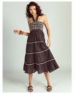 Jodi Tamu Tiered Dress, black, s