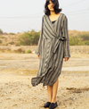 Twofold Knotted Shirt Dress