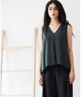 Anomaly Essential Silk Tank, green, xs