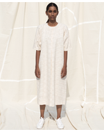 Deform Inverted Pleat Dress, white, s