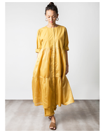Three Frill Dress, yellow, s