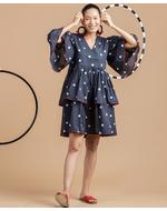 Olio Polka Dress, blue, s