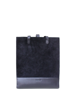Cord Shopping Tote, black