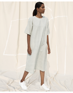 Deform A Line Dress, white, s