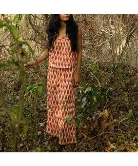 Iyla Elakshi Tube Dress, orange, s