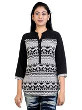 Carrel Imported Stretchable Fashionable Top (BLAGSPLCK-3383), black, l