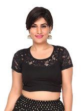 Carrel Cotton Women Fancy Blouse (AGSPL_ 3233), l, black