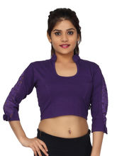 Carrel Cotton Women Fancy Blouse (AGSPL_ 3225), l, purple