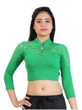 Carrel Cotton Women Fancy Blouse (AGSPL_ 3229), l, green