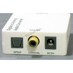 Digital Coaxial & Optical to Analog R+ L Audio Converter