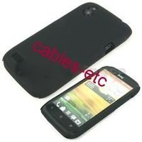 Rubberised Frosted Hard Back Shell Case Cover For HTC Desire V T328w - Black