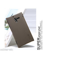 Nillkin High Frosted Matte Hard Back Cover Case For Sony Xperia ZL Lt35i - Brown