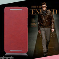 KLD Italian Leather Royal Flip Diary Smart Cover Case For HTC ONE M7 - Brown