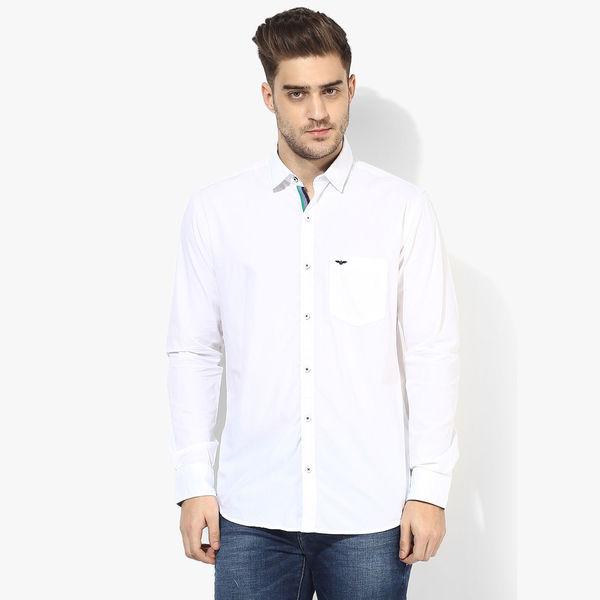Park Avenue Solid Slim Fit Shirt,  white, xxl