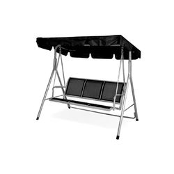 Comfy 3 Seater Swing,  grey/black