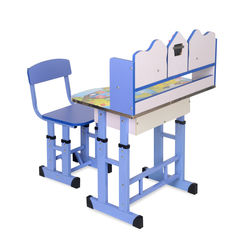 Woody Study Desk With Chair,  blue