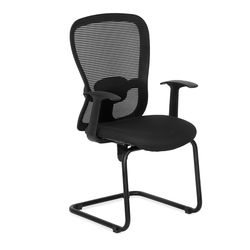 Alba Mid Back Visitor Mesh Chair,  black