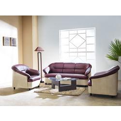 Knight Sofa Set 311,  maroon/beige