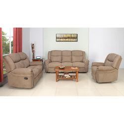 Lorenzo Recliner Sofa Set,  light brown