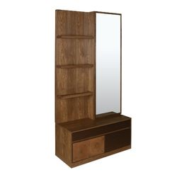 Hillwood Dresser With Mirror Walnut Cherry,  walnut cherry