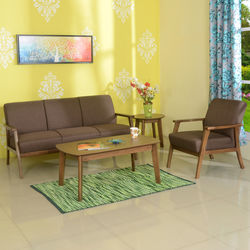 Layla 3Seater Sofa,  light walnut