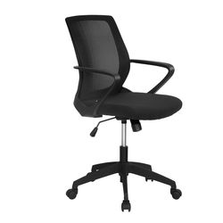 Scoop Mid Back Office Chair,  black