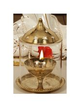 Vertis Brass Diya Reg Glass Dia 108mm (KTSAJRG108)