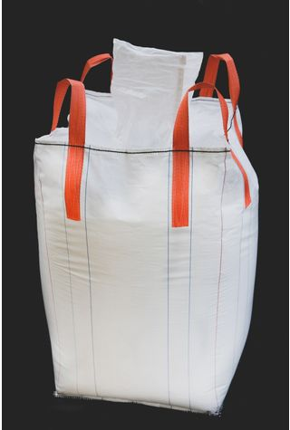 Tubular Bags, 90x90x200, 1250 kg, 5: 1, Top: Spout, Bottom: Flat