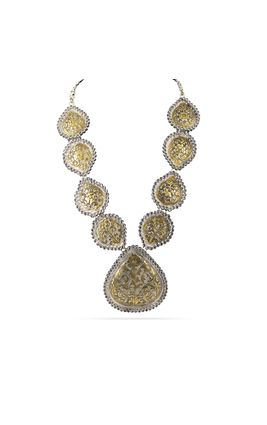 POLKI STONE CARVING AASHNA NECKLACE SET