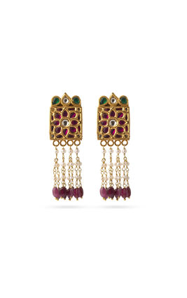 Multi kundan earrings
