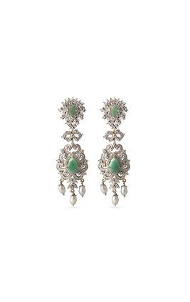 Emerald CZ earrings