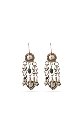 925 silver long earrings