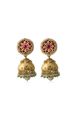 Red white kundan zumar