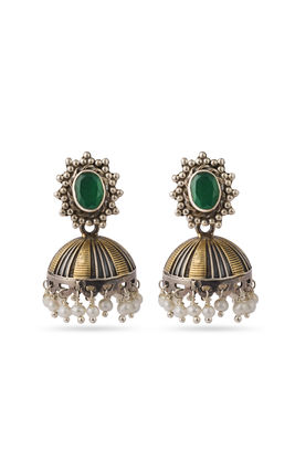 Green stone zumar earrings