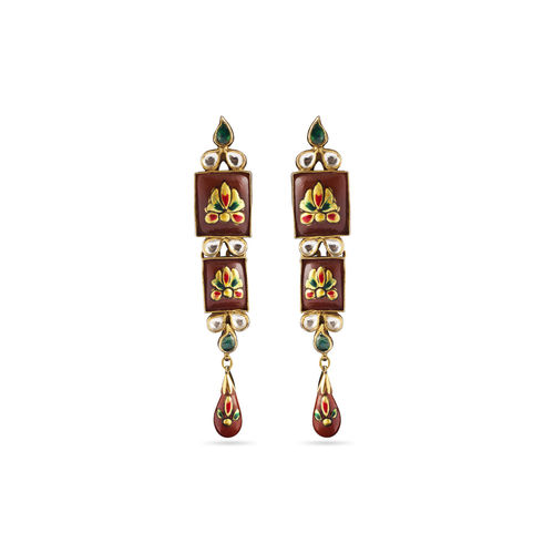 PRINTED STONE EARRINGS