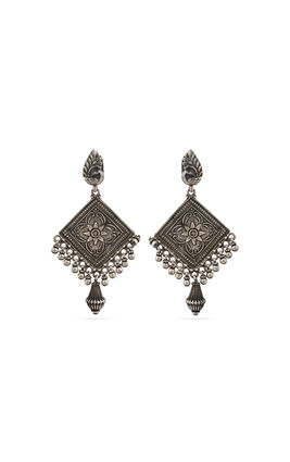 925 silver carving earrings