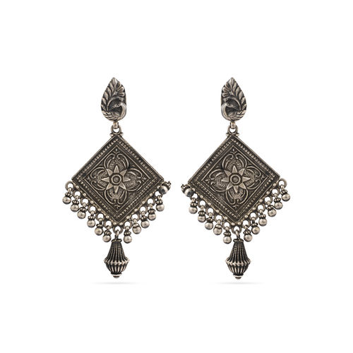 925 silver carving earrings