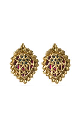 Pink multi kundan earrings