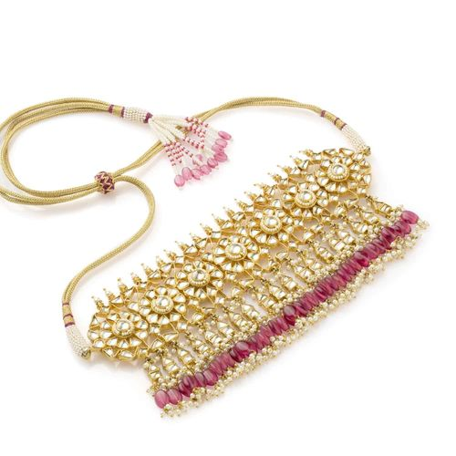 WHITE KUNDAN NECKLACE SET