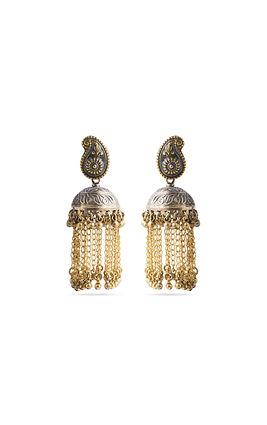 Golden & silver chain earrings