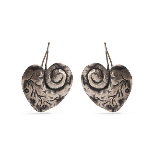 Plain silver earrings