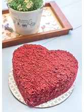Cupcake Noggins Red Velvet Heart Shaped Cake, 600 gm