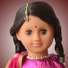 Mani Doll Package (Festive Pink and Purple Lehenga)