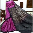 KSDS009000001-Thamboori's handwoven pure dupion silk with kantha work