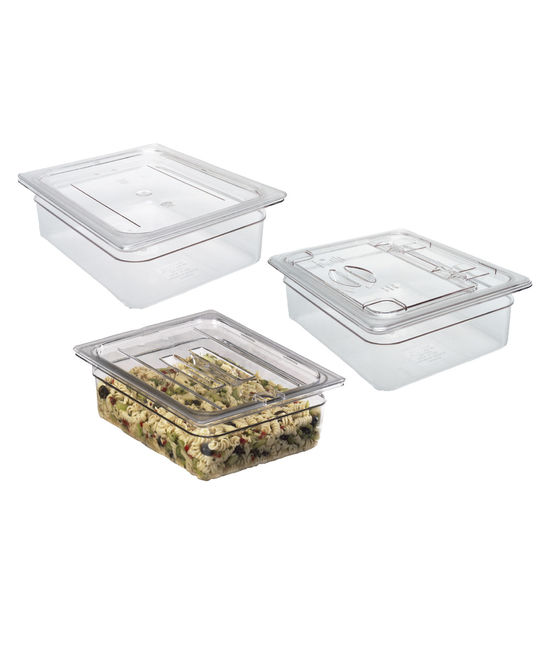 Flat Lid for Food Container Polycarbonate Red