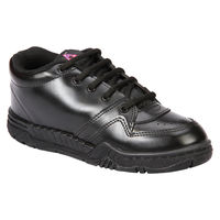 Rex Gola Black Lace-up School Shoes, 7c