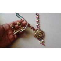 Polki design heavy look necklace set-KNL016
